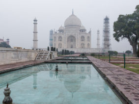 Early morning at the Taj