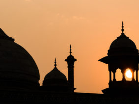 Sunset at Agra